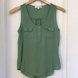 Tops - Green Tank, perfect for layering.